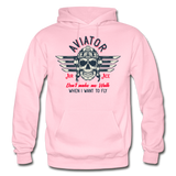 Aviator - Air Ace - Gildan Heavy Blend Adult Hoodie - light pink