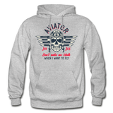Aviator - Air Ace - Gildan Heavy Blend Adult Hoodie - heather gray