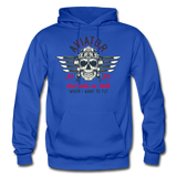 Aviator - Air Ace - Gildan Heavy Blend Adult Hoodie - royal blue