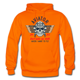 Aviator - Air Ace - Gildan Heavy Blend Adult Hoodie - orange