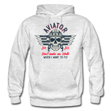 Aviator - Air Ace - Gildan Heavy Blend Adult Hoodie - light heather gray