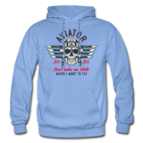 Aviator - Air Ace - Gildan Heavy Blend Adult Hoodie - carolina blue