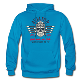 Aviator - Air Ace - Gildan Heavy Blend Adult Hoodie - turquoise