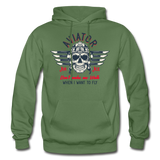Aviator - Air Ace - Gildan Heavy Blend Adult Hoodie - military green