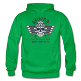 Aviator - Air Ace - Gildan Heavy Blend Adult Hoodie - kelly green