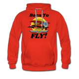 Born To Fly - Red Biplane - Men's Premium Hoodie - red