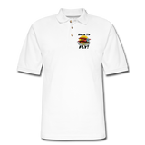 Born To Fly - Red Biplane - Men's Pique Polo Shirt - white