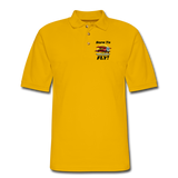 Born To Fly - Red Biplane - Men's Pique Polo Shirt - Yellow