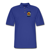 Born To Fly - Red Biplane - Men's Pique Polo Shirt - royal blue