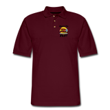 Born To Fly - Red Biplane - Men's Pique Polo Shirt - burgundy