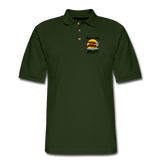 Born To Fly - Red Biplane - Men's Pique Polo Shirt - forest green