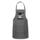 I'd Rather Be Flying - Women - Adjustable Apron - charcoal