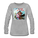 Flying Is For Girls - Women's Premium Long Sleeve T-Shirt - heather gray