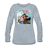 Flying Is For Girls - Women's Premium Long Sleeve T-Shirt - heather ice blue