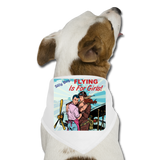 Flying Is For Girls - Dog Bandana - white