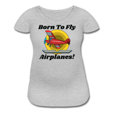Born To Fly - Airplanes - Women's Maternity T-Shirt - heather gray