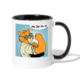 We Can Do It - Cat - Contrast Coffee Mug - white/black