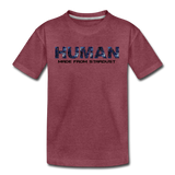 Human - Stardust - Kids' Premium T-Shirt - heather burgundy