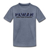 Human - Stardust - Kids' Premium T-Shirt - heather blue