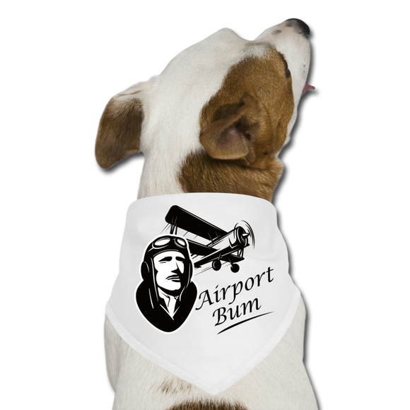 Airport Bum - Dog Bandana - white