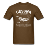 Cessna Adventure - White - Unisex Classic T-Shirt - brown