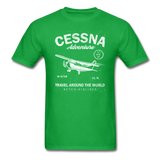 Cessna Adventure - White - Unisex Classic T-Shirt - bright green