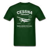 Cessna Adventure - White - Unisex Classic T-Shirt - forest green