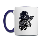 Darth Vader - Hot Rod - Contrast Coffee Mug - white/cobalt blue