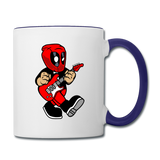 Deadpool - Rockstar - Contrast Coffee Mug - white/cobalt blue
