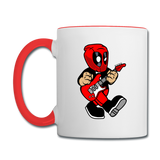 Deadpool - Rockstar - Contrast Coffee Mug - white/red