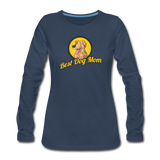 Best Dog Mom - Women's Premium Long Sleeve T-Shirt - navy