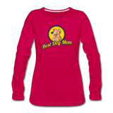 Best Dog Mom - Women's Premium Long Sleeve T-Shirt - dark pink