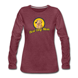 Best Dog Mom - Women's Premium Long Sleeve T-Shirt - heather burgundy