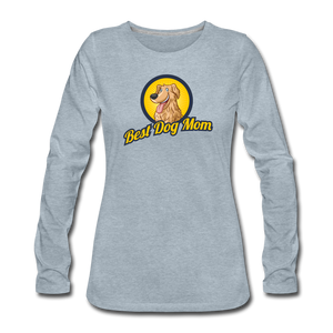 Best Dog Mom - Women's Premium Long Sleeve T-Shirt - heather ice blue