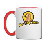 Best Dog Mom - Contrast Coffee Mug - white/red