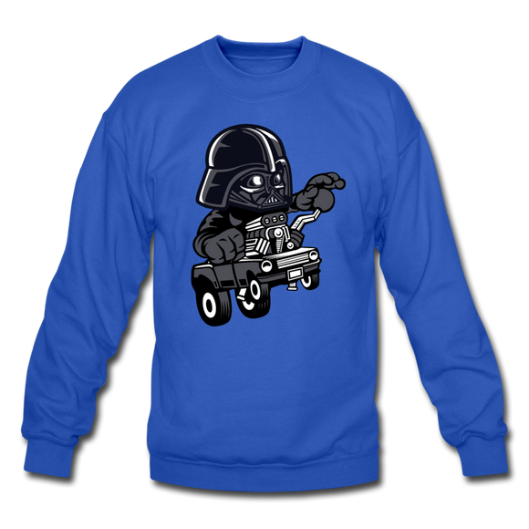 Darth Vader - Hot Rod - Crewneck Sweatshirt - royal blue
