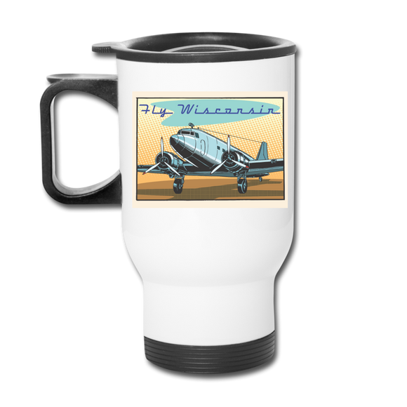 Fly Wisconsin - Travel Mug - white