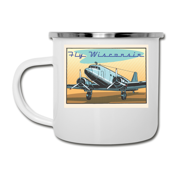 Fly Wisconsin - Camper Mug - white