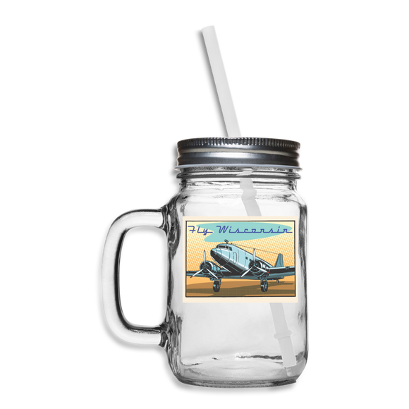 Fly Wisconsin - Mason Jar - clear