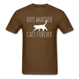 Boys Whatever, Cats Forever - White - Unisex Classic T-Shirt - brown