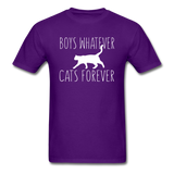 Boys Whatever, Cats Forever - White - Unisex Classic T-Shirt - purple