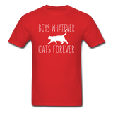 Boys Whatever, Cats Forever - White - Unisex Classic T-Shirt - red