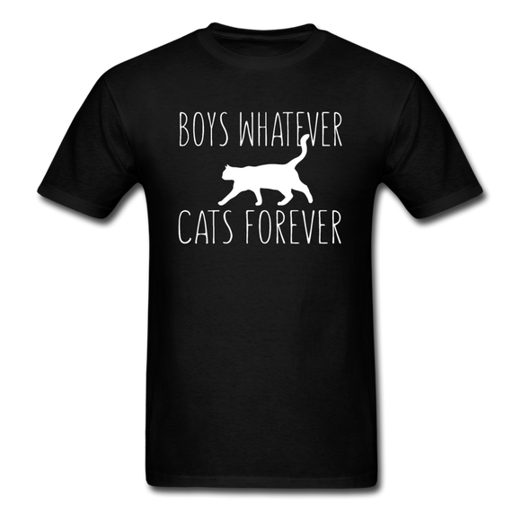 Boys Whatever, Cats Forever - White - Unisex Classic T-Shirt - black