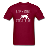 Boys Whatever, Cats Forever - White - Unisex Classic T-Shirt - burgundy