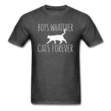 Boys Whatever, Cats Forever - White - Unisex Classic T-Shirt - heather black