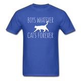 Boys Whatever, Cats Forever - White - Unisex Classic T-Shirt - royal blue