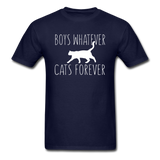 Boys Whatever, Cats Forever - White - Unisex Classic T-Shirt - navy