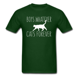 Boys Whatever, Cats Forever - White - Unisex Classic T-Shirt - forest green