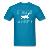 Boys Whatever, Cats Forever - White - Unisex Classic T-Shirt - turquoise