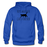 Boys Whatever, Cats Forever - Black - Gildan Heavy Blend Adult Hoodie - royal blue